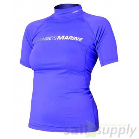 Magic Marine Cube Rash Vest S/S Ladies