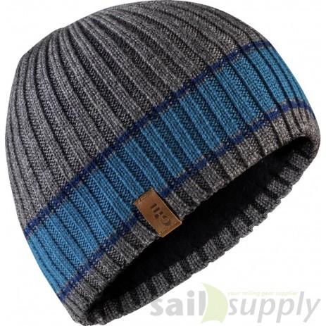 Gill Band Stripe Beanie grey