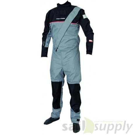Magic Marine Junior Regatta Breathable Drysuit grijs voorkant