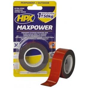 Max Power Outdoor - zwart 25mm x 15m