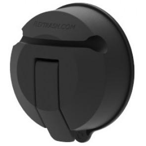 Flextrash Vacuclip zuignap - zwart - 60mm