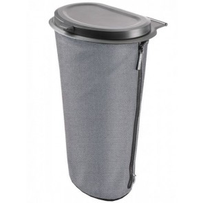 Flextrash mobiele prullenbak - 9 ltr - grijs