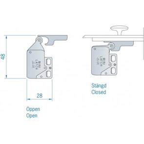 Deurvastzetter Minilatch 28x48mm