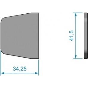 RVS scharnier-afdekkapje 3425 x 415mm