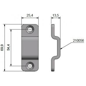 RVS Slotplaat voor schuifgrendel AISI316