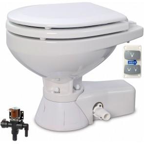 Jabsco Quiet Flush Stil Compact elektr. toilet 24V met solenoid