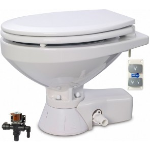 Jabsco Quiet Flush Stil Regular elektr. toilet 12V met solenoid