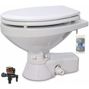 Jabsco Quiet Flush Stil Regular elektr. toilet 24V met solenoid