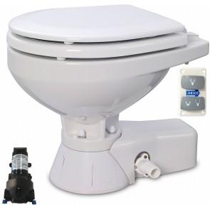Jabsco Quiet Flush Stil Compact elektr. toilet 12V met spoelwaterpomp