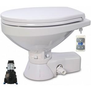 Jabsco Quiet Flush Stil Regular elektr. toilet 12V met spoelwaterpomp soft closing