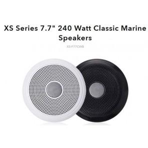 """Fusion XS-F77CWB 7.7"""" Speakers Classic White & Black (No LED)"""