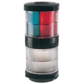 Plastimo navigatielicht 3kleur+360wit zwart 2NM 200mm