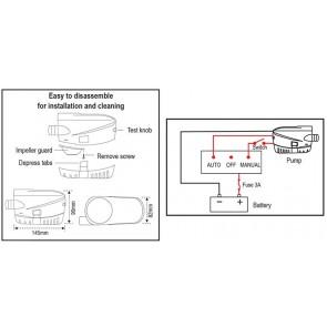Lalizas submersible automatic bilge pump 600Gph 12V