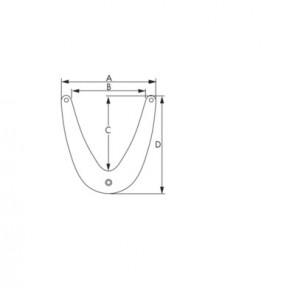 Plastimo boegfender 35x34,5 wit