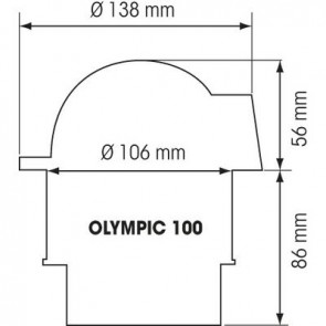 Plastimo Olympic 100 kompas cover wit
