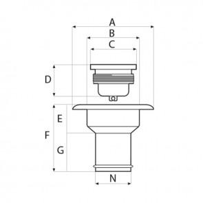 Lalizas dekvuldop brandstof - 38mm - kunststof