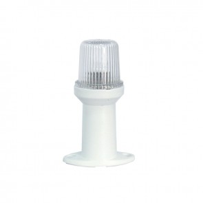 Lalizas pole light fixed white, 16cm, witte basis