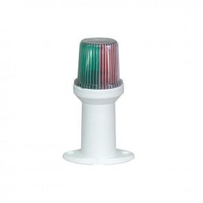 Lalizas pole light fixed tri-color, 16cm, witte basis