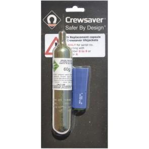 Crewsaver 150N herlaadset Crewfit automatisch blauw