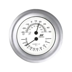 Plastimo Thermo-hygrometer 4inch glansverchroomd