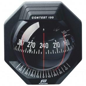 Plastimo Contest 130 schotkompas zwart - zwarte roos conisch
