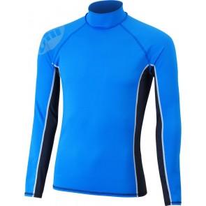 Gill Men's Pro Rash Vest L/S blauw voorkant