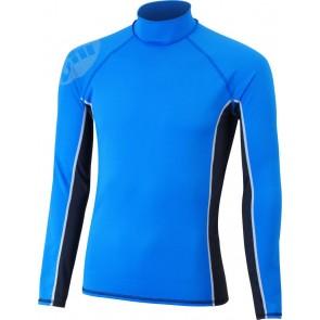Gill Junior Pro Rash Vest L/S blauw voorkant