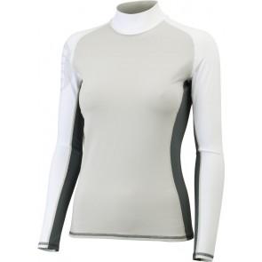 Gill Women's Pro Rash Vest L/S Silver voorkant