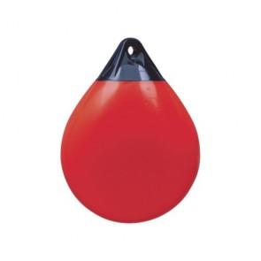 Stootwil bolvormig A3 rood met kop blauw