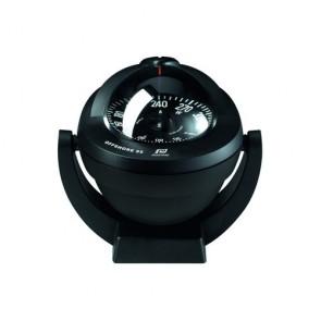 Plastimo Offshore 95 kompas zwart, platte roos zwart, bracket