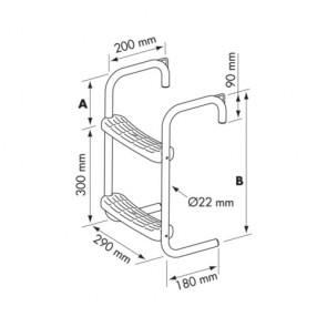 Plastimo zwemtrap RVS steiger/bijboot ophang 245mm