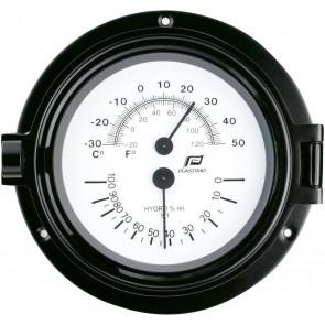 Plastimo Thermo-hygrometer 4,5inch zwart