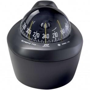 Plastimo Olympic 115 kompas zwart, zwart conische roos, opbouw