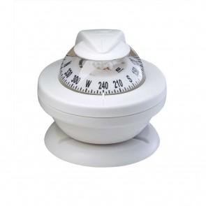 Plastimo Offshore 55 beugel kompas wit - witte roos conisch