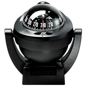 Plastimo Offshore 75 beugel kompas zwart - zwarte roos conisch