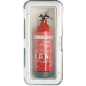 Lalizas storage case brandblusser transparante deur - 1kg - wit