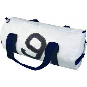 Bainbridge Zeildoek Tas Medium wit-blauw