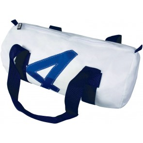Bainbridge Zeildoek Tas Small wit-blauw