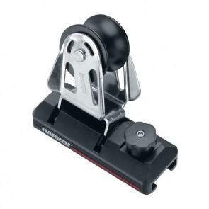 Harken BB 32mm T-rail Genua lei-oog met stopper GT326S