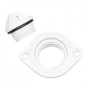 Lalizas 16689 drain socket w/plug, oval w/2 hole