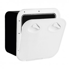 Lalizas top line storage hatch, white, 370x375mm