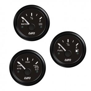 Lalizas fuel level gauge, 0-190 ohm