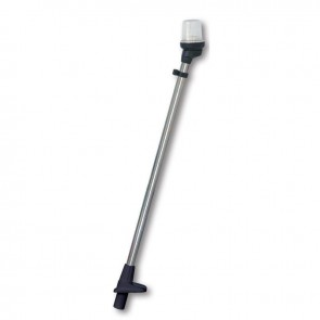 Lalizas pole light white, 54cm, zwarte behuizing