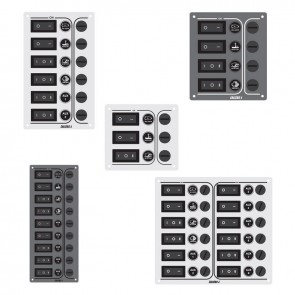 Lalizas SP6 Ultra switch panel, Charcoal