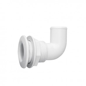 Lalizas thru-hull elbow 90gr, for hose dia. 38mm, PA, white