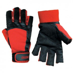 Lalizas 5 finger cut sailing gloves kevlar black/red