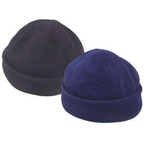 Lalizas fleece beret with adjustable strap black