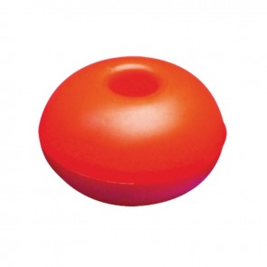 Lalizas surface float w/hole, round, 75mm orange