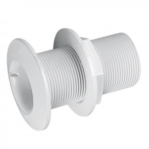 Lalizas thru-hull w/fl. flange threaded, 3/4'', L.81mm, White