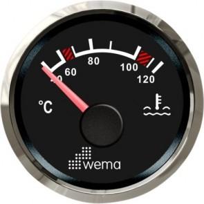 Wema Silver serie watertemperatuur meter NMEA2000 zwart